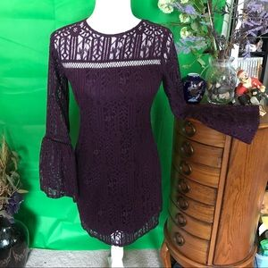 Beautiful purple lace dress from Xhilaration. XS